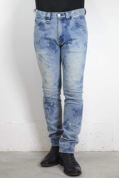 HAND BLEACH × DAMAGE 12'oz SLUB STRETCH DENIM【SENSE10月号P279掲載商品の色違い】