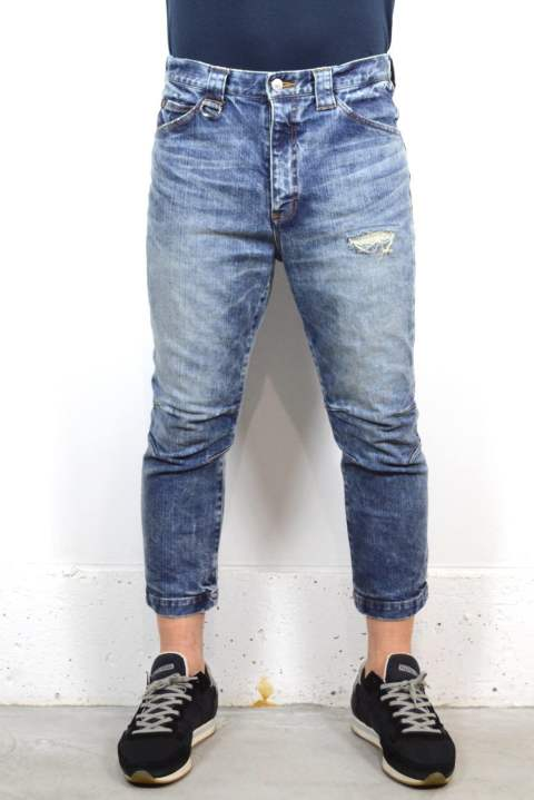 8分丈 12oz STRETCH DENIM (BLUE)