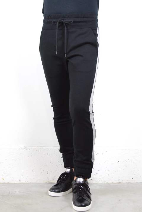 STRETCH LINE PANTS (BLACK×TOP GRAY)