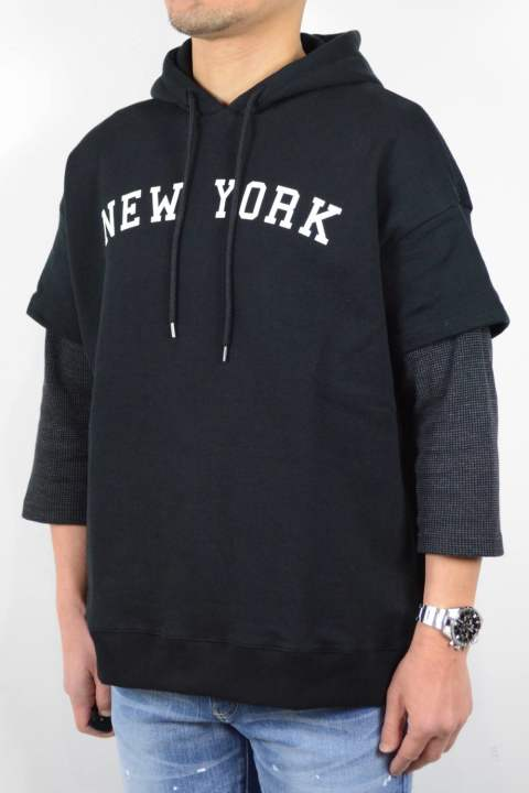 【ラスト1着】LAYERED BIG PARKA (NEW YORK PRINT)