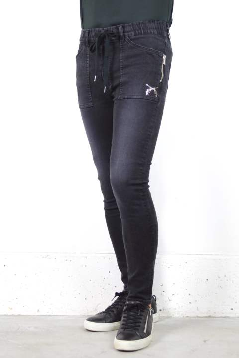 【秋冬新作】CROSSGUN SWAROVSKI CRYSTAL 11.5oz 4WAY HIGH STRETCH DENIM / 4WAYハイストレッチデニム (BLACK)