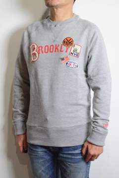 【ラストMサイズ1着】VINTAGE FRENCH TERRY PULLOVER 【BROOKLYN】 (TOP GRAY)